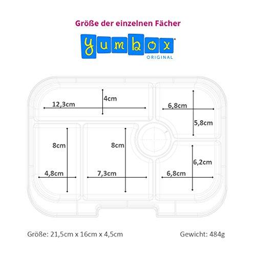 Yumbox Original M Lunchbox - 6 Fächer, mittelgroß   Brotdose mit Trennwand Einsatz   Bento Box für Kindergarten Kinder, Schule, Erwachsene (Brooklyn Green)