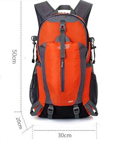 LQABW Klettern Wandern Reiten Wasserdicht Große Kapazitäts-Männer Und Frauen Doppel-Rucksack Outdoor-Zubehör Tasche 40L Black