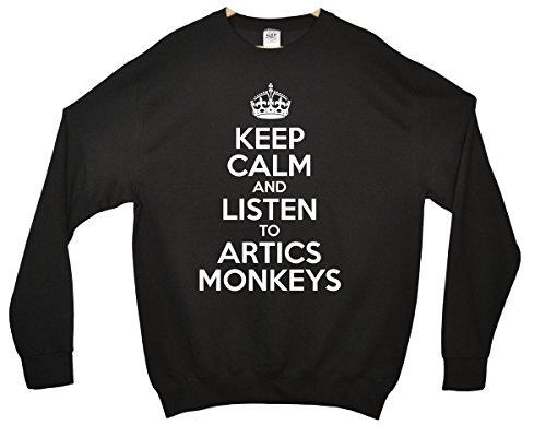Keep Calm and Listen To Arctic Monkeys Sweatshirt - Schwarz - 12/13 Jahre
