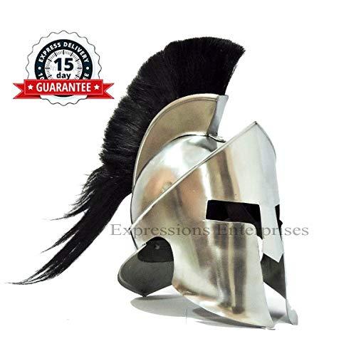 Expressions Enterprises Spartan Helm Rüstungshelm Kostüm Kappe König Leonidas 300 Film Helm/LARP Renaissance Dekor - Leonidas Kostüm Halloween