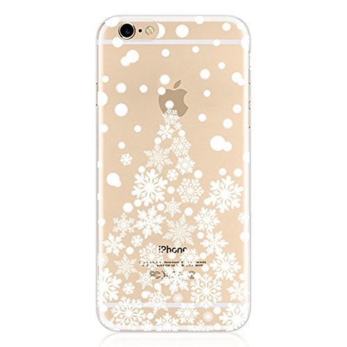 Christmas Hülle iPhone 6 Plus / 6S Plus LifeePro Weihnachts Cover Ultra dünn Weiches Transparent TPU Gel Silikon Handy Tasche Bumper Case Anti-Scratch Back Cover Full Body Schutzhülle für iPhone 6 Plu Style 2