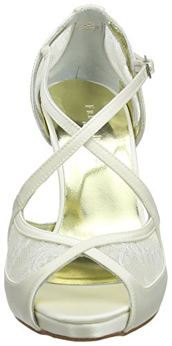 Freya Rose - Maria Lace, Open-Toe da Donna (Off White (Ivory))