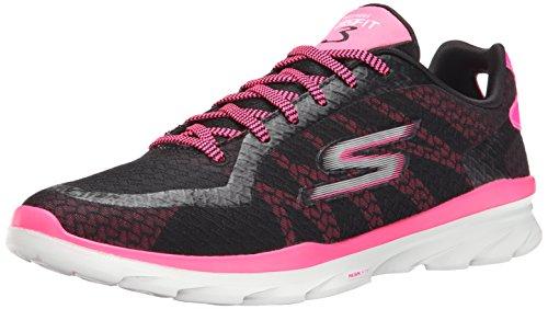 Skechers Performance Go Fit 3 Walking Shoe Black/Hot Pink