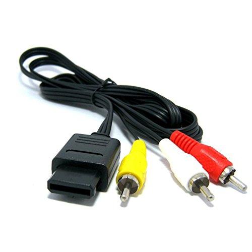 WINGONEER sostituzione Assecure composito AV piombo TV via cavo per Super Nintendo, Gamecube, 64 (Super Famicom, SNES, GC, NGC, N64)