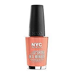 N.Y.C. New York Color Minute Nail Enamel, Hamptons Peach, 0.33 Fluid Ounce
