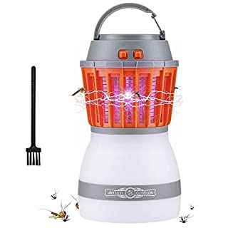 AUSHEN Bug Zapper Outdoor Mosquito Killer Camping Lantern Portable 2 In 1 Electric Mosquito Killer Rechargeable Zapper Mosquito Waterproof for Camping [2019 Newest Version]