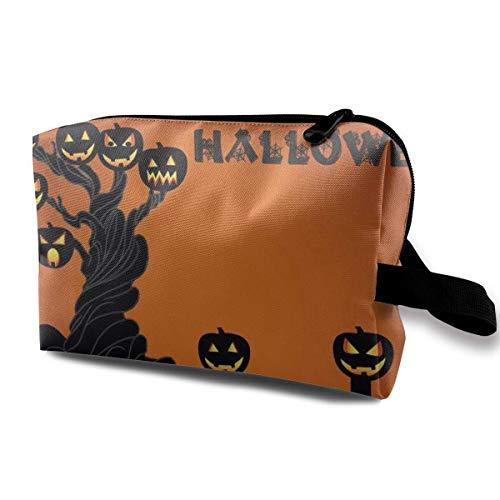 Halloween-Kürbis-Baum-Multifunktionsfall-Kulturbeutel-Reise-Make-upkosmetiktaschen (Für Die Nägel Halloween-design)