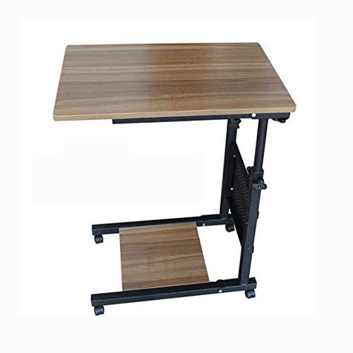 AA-SS-Over-Bed Tables Bedeckter Tisch - Swivel Tilt Top Rolling Table - Verstellbarer Nachttisch für Zuhause oder Krankenhaus - Laptop, Frühstückskorb für bettlägerige Patienten lesend - Tilt Bett-tisch