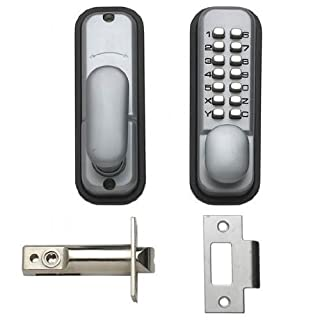 Hoppe 87128205 Arrone AR/D-195MC Digital Push Button Door Key Pad Lock - Silver