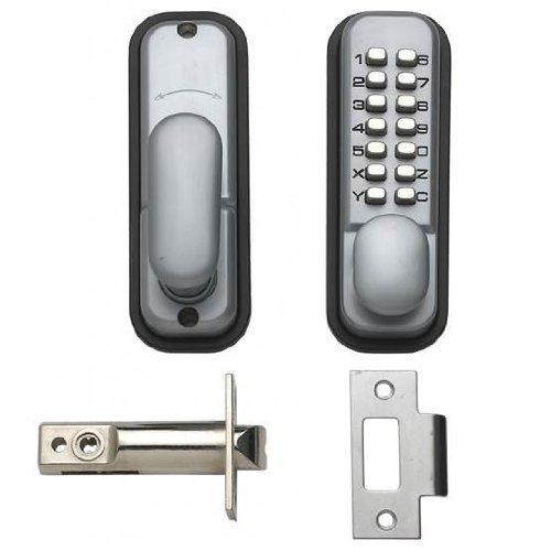 Hoppe 87128205 Arrone AR/D-195MC Digital Push Button Door Key Pad Lock - Silver  sc 1 st  Amazon UK & Keys and Door Locks: Amazon.co.uk