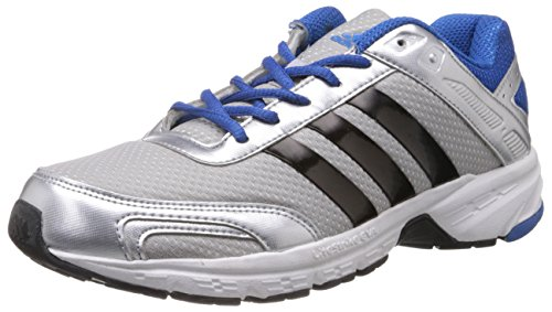 adidas Men's Impulse 1 M Metallic Silver, Black and Blue Mesh Running Shoes - 8 UK  available at amazon for Rs.4099