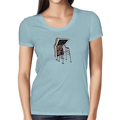 TEXLAB - Old Controller - Damen T-Shirt Hellblau