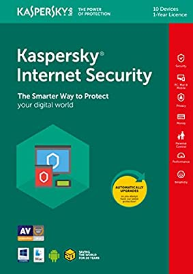 Kaspersky Internet Security 2019 | 10 Devices | 1 Year | PC/Mac/Android | Download