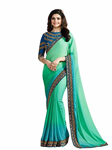 Tagline Women's Clothing Saree Collection in Multi-Coloured Georgette Material For Women Party...