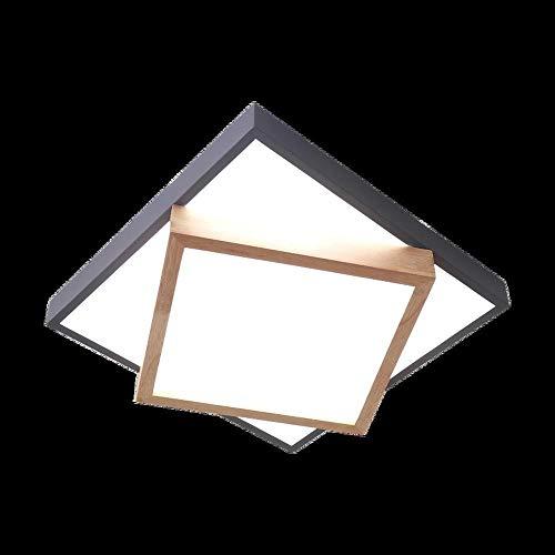 Leselampe Nachttischlampe Tischlampe Schreibtischlampe Tischleuchte Nordic Schlafzimmer Lampe Holz Stil Wohnzimmer Deckenleuchte Kreative Hochzeit Zimmer Geometrische Quadratische Zimmer Innen Schmied -