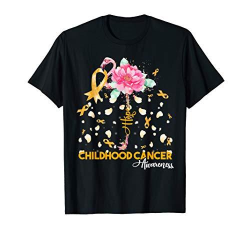 Hope Flamingo Childhood Cancer Awareness T-Shirt -