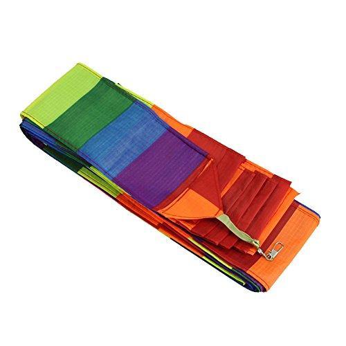 RETYLY Super Nylon Lenkdrachen Schwanz Regenbogen Linie Kite Zubehoer Kinder Spielzeug