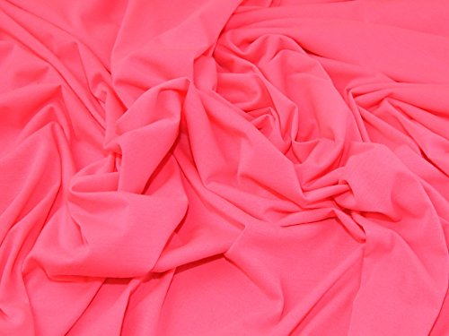 Poly-baumwolle Kleid (Baumwolle & Poly Single Stretch Jersey Knit Kleid Stoff Neon Pink - Meterware)