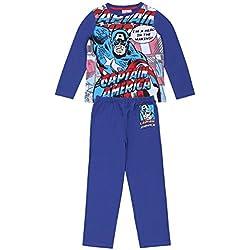 Pijama azul Capitán América MARVEL - 7-8 Años 128 cm