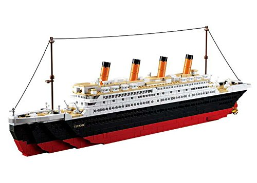 Sluban slubanm38-b0577 Titanic Big Building Bricks set