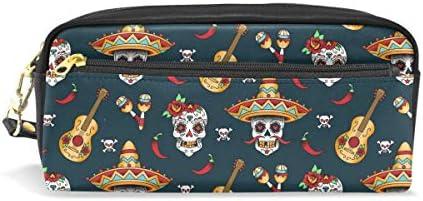 Matita di grande capacità titolari Music Music Music mexican Sugar Skull modello penna cancelleria della borsa con cerniera trucco | Di Rango Primo Tra Prodotti Simili  | Outlet Store Online  | Speciale Offerta  c60437