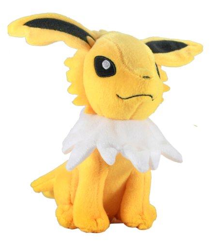 Pokemon: Best Wishes! (Schwarz + Weiß) Kuscheltier / Stofftier / Plüsch Figur: Blitza / Jolteon / Thunders (T.T.) 20 cm