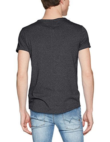 Tommy Jeans Herren T-Shirt Schwarz (Tommy Black 078)