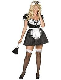 Smiffys, Damen Dienstmädchen Kostüm, Kleid, Schürze und Haarband, Größe: X1, 30381