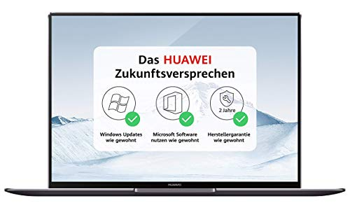Huawei MateBook X Pro 35,31 cm (13,9 Zoll 3K-FullView-Touchscreen-Display) Notebook (Intel Core i7-8550U, 16 GB RAM, 512GB SSD, NVIDIA GeForce MX150 mit 2GB GDDR5, Windows 10 Home) grau -