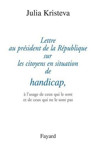 Lettre au président de la République sur les citoyens en situation de handicap