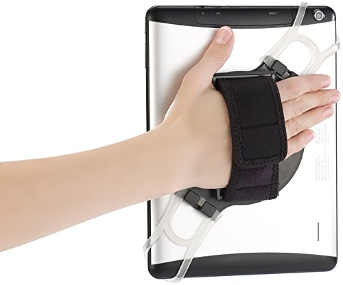 Callstel Tablet Halter: 2in1-Tablet-Halterung mit Handschlaufe & Ständer für Tablets 7-11, 9