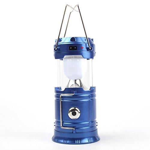 Starnearby Solarleuchten für Außen Tragbare Faltbare LED-Camping-Laternen Beleuchtet wandernde Notfälle (Blau) -
