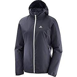 Salomon Essential Jkt W Impermeable De Mujer Gris Graphite