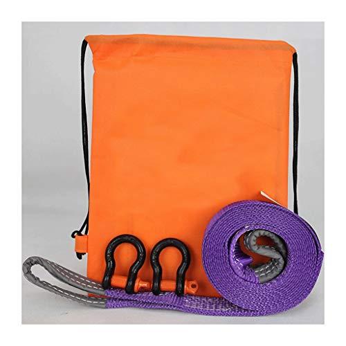 HX Abschleppseil, Zugseil-LKW Leistungsstarker Schwerlast-Offroad-Anhänger Mit Rettungsseil 5t, 8t, 12t (Size : Purple+Silver Hook) -