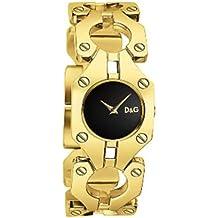 D&G Dolce&Gabbana DW0401 - Reloj analógico de mujer de cuarzo con correa de acero inoxidable dorada