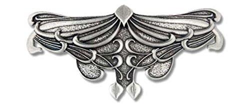 Haarspange Art Nouveau Blatt - Spangenlänge: 80 mm.
