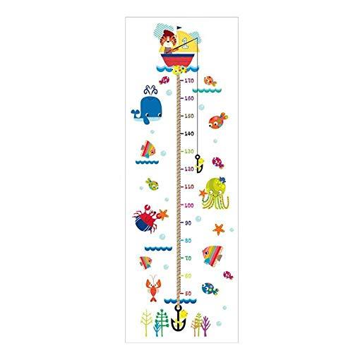 CYACC Cartoon Misura dell\'altezza Adesivo Adesivo Scuola Materna Decorazione Camera Bambino Altezza Telemetro Decorazione Domestica Inodore @ a,90 * 60cm