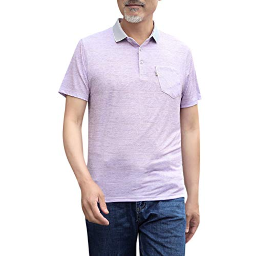 Setsail Mode Herren Alters Tasche Slim Slim Kurzarm Umlegekragen (Asiatische Joker Kostüm)