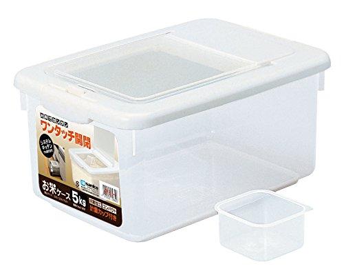 サンコープラスチック 日本製 米びつ お米ケース 5Kgタイプ 計量カップ付き ホワイト