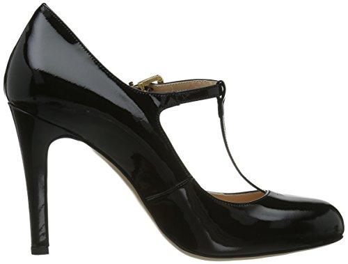 Evita Shoes Pumps geschlossen Damen T-Spangen Pumps Schwarz (Schwarz)