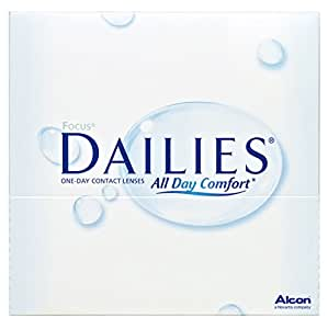 Focus Dailies All Day Comfort Tageslinsen weich, 90 Stück / BC 8.6 mm / DIA 13.8 / -2,25 Dioptrien