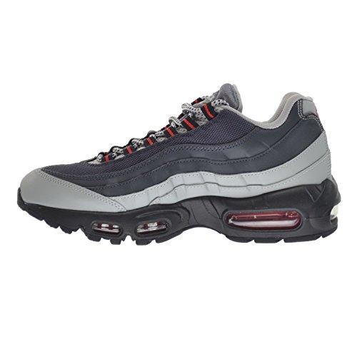 Nike Mens Air Max 95 Essential Leather Trainers Grau