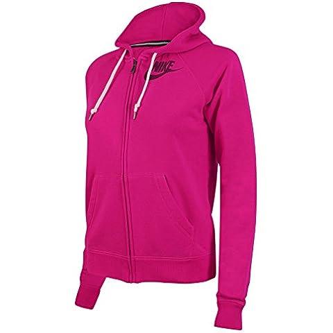 Nike Rally Futura de la mujer sudadera con cremallera y capucha para hombre, mujer, Nike Rally Futura, Pink Fuschia, XS