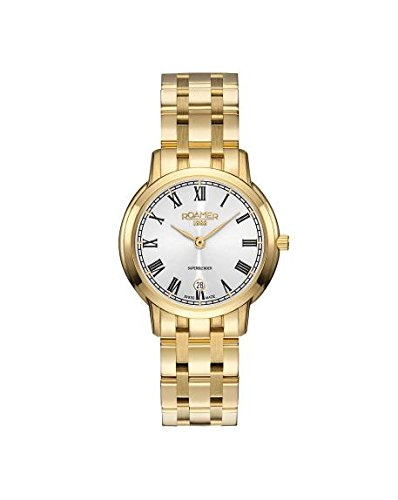 Roamer Women's Quartz Watch with Silver Dial Analogue Display and Gold Stainless Steel Bracelet 515811 48 22 50