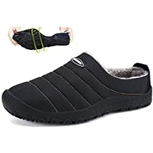 Hishoes Chiuse Pantofole da All aperto Donna Invernali Scarpe Caldo Peluche  Ciabatte Pantofole da casa 4aa8d976c5c