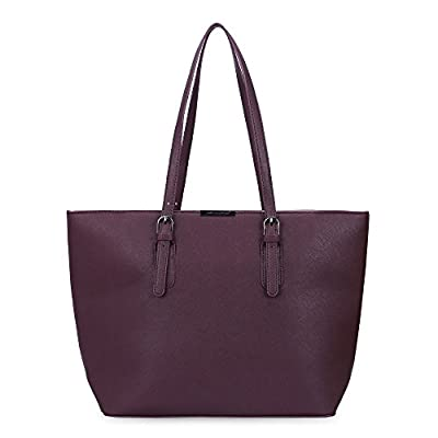 David Jones - Sac à Main Shopping Femme Grand Format - Sac Cours Lycée Fille - Cabas Fourre-Tout Porté Epaule Cuir PU Anse Longue - Shopper Grande Capacité A4 - Sac Etudiante Travail