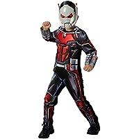 Rubie's 640487L Marvel Vengadores Ant-Man Deluxe - Disfraz infantil para niños, talla grande