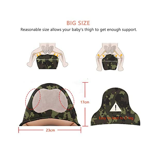 "BeeViuc Front Premium Hipseat Baby Carrier for Newborn, Baby Sling, Multifunctional, Ergonomic, 100% Cotton, Butterfly Rotary Buckle, 6 Carrying Positions - Camouflage Green BeeViuc Ultimate Comfort For Baby - The Baby Carrier is Used Soft Classical Cotton With Polyester Touching. Suit For Baby Who is Between 3-36 Months and 0-20 KG. Ultimate Comfort For Parents - An adjustable Velcro Waist Strap That Puts Some Of The Weight On Your Hips. Ultra Extand And Soft Padded Shoulder Straps For The Best Comfortable For All Parents. Baby Hip Healthy - Enable Your Baby To Be Seated in An Optimal Natural ""M Shape"" Position From Newborn To Toddler. The Carrier Has Been Acknowledged As a ""Hip-Healthy"" Product By The International Hip Dysplasia Institute. 5"