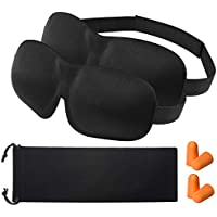 OMORC 3D Schlafmaske Augenmaske mit zwei Paaren Ohrenstöpsel und Tasche, 2-Pack preisvergleich bei billige-tabletten.eu