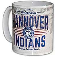 """Hannover Indians """"Authentic Performance"""" Keramiktasse, Weiß"""